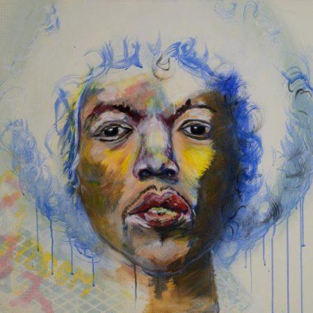 Hans van Kuijk schilderij Jimi Hendrix