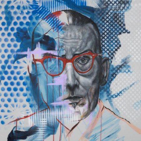 Jules Deelder door Hans van Kuijk